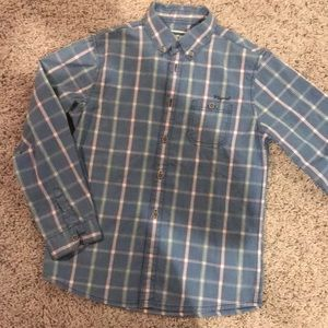 Boys button down striped shirt